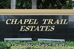 sign for Chapel Trail Estates
